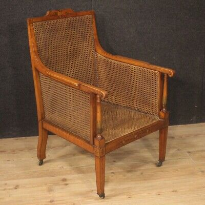 Armchair English Furniture Chair Seat Living Room Antique Style Wooden 900