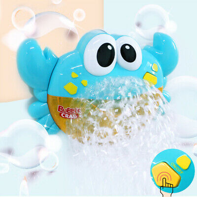 Crab Bubble Bath Shower Toy Machine 12 Songs Musical Bubble Maker Baby Toy