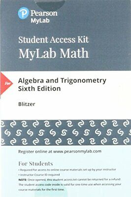MyMathLab with EText-access code for Algebra and Trig-Fast eBay message delivery