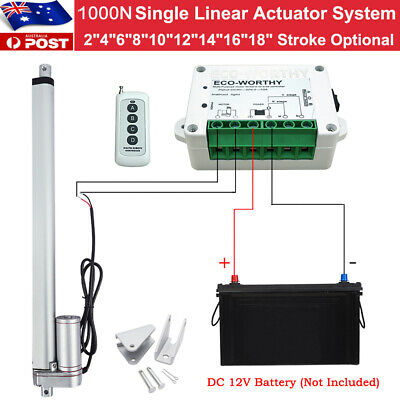 1000N Linear Actuator 12V DC Electric Motor Max Load 100KG for Auto Door Lifting