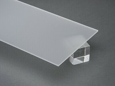 """Acrylic Plexiglass Clear Frosted Sheet 1/8"""" Thick - You Pick The Size #P95"""