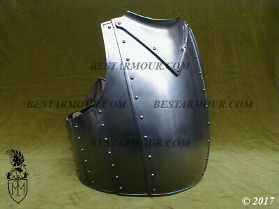 Medieval Steel Body Armour Larp Hussars Cuirass Knight Fornt Breastplate BS312
