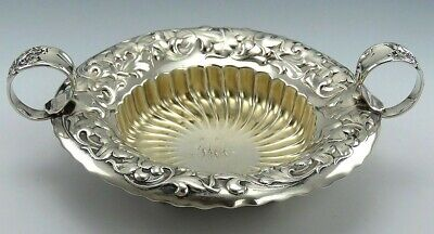 Antique c1890 Sterling Silver Whiting Heraldic 2 Handled Dish/Bowl Hollowware
