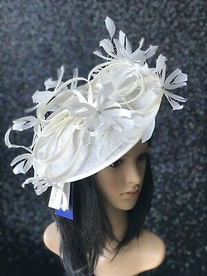 PETER BETTLEY IVORY WEDDING  DISC FASCINATOR Mother Of The Bride Hat OCCASION