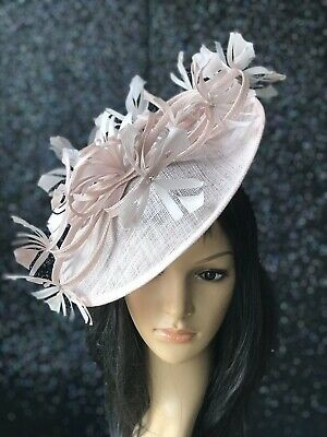 PETER BETTLEY ROse Pink WEDDING  DISC FASCINATOR Mother Of The Bride Hat
