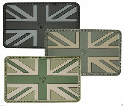 Viper Tactical Union Jack Subdued Rubber Military Badge Patch Airsoft Police