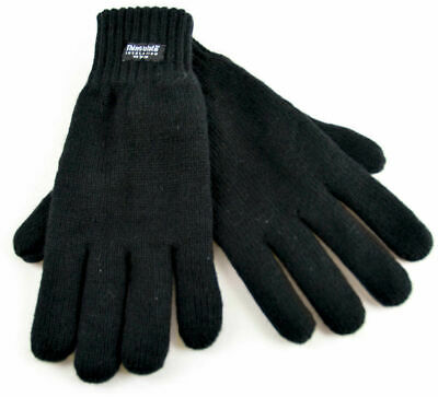 Men's Thermal Thinsulate Knitted Winter Warm One Size Full Finger Gloves