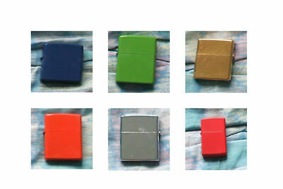 Coloured Flip Top Refillable Petrol Lighters ~ Select Colour from drop down menu