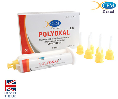 Polyoxal Light body - Dental Silicone Impression Material - Xcem Limited UK