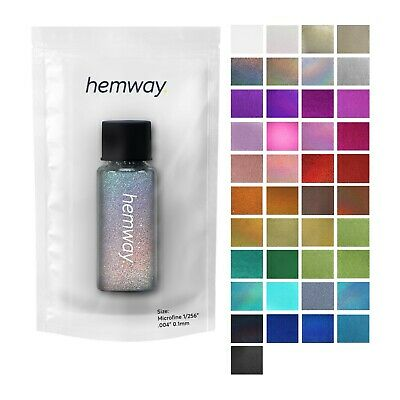 """Glitter Tube Microfine 1/256"""" Hemway Cosmetic Safe Sparkle Dust Nails Art Magpie"""