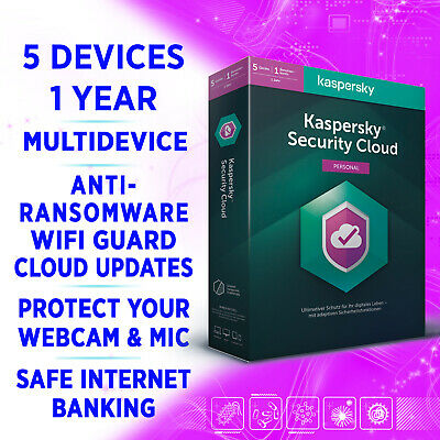 Kaspersky Security Cloud (Personal) 5 Geräte 1 Jahr 2020 MULTIDEVICE VOLLVERSION