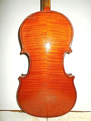 "Antique Old Vintage ""Stradiuarius"" 2 Pc.Curly Maple Back Full Size Violin - NR"