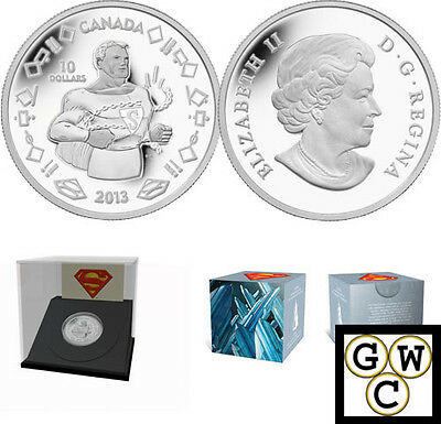 2013 'Vintage Superman' Proof $10 Silver Coin .9999 Fine (13287) (NT)