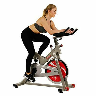 Sunny Health & Fitness Indoor Exercise Stationary Cycle Bike with 44 LB Silver