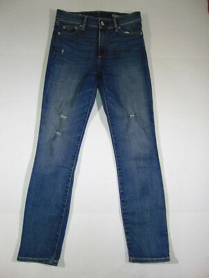GAP 1969 Women's Resolution Slim Straight Distressed,Vintage Blue JEANS Size 25s