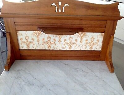 Antique European, Marble Top, Maple Wood, Tiled Back, Wash Stand