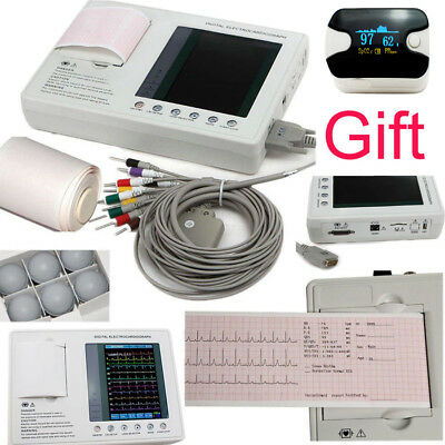 Ship! 12-lead 3-channel Electrocardiograph ECG/EKG Machine Thermal Printer Paper