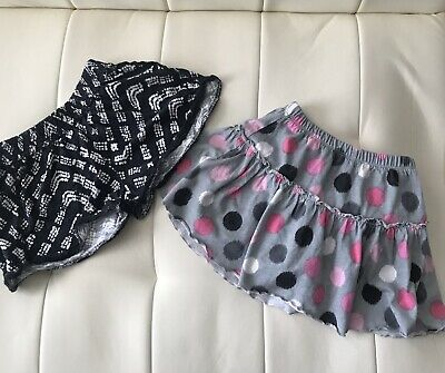 Carter's Toddler Girls Bundle of Two Pcs Gray Skirt and Black Shorts Size 4T