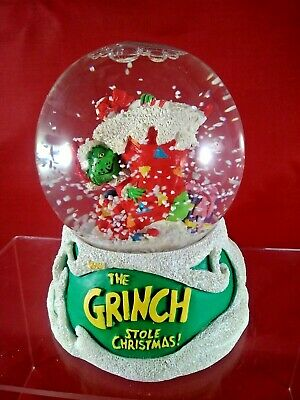 Vintage How the Grinch Stole Christmas Snow Globe.