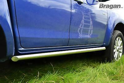 To Fit 2016+ Nissan Navara NP300 4x4 Side Bars Tapered Ends Stainless Steel Tube