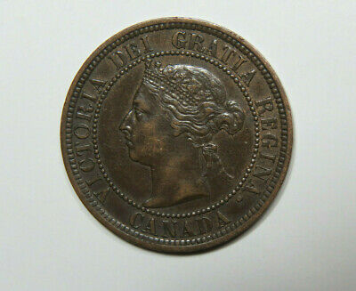 1887 Canada Large Cent Foreign Coin