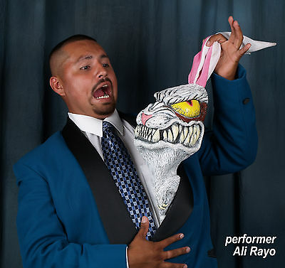 """COMEDY MAGIC RUBBER RABBIT production item """"Rabbid©"""" by Facemakers"""