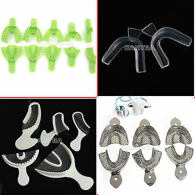 4Type Dental Stainless Steel&Silicone Teeth Whitening Bleaching Mouth Bite Trays