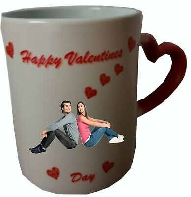 Personalised Valentines day Heat Colour Changing Mug. Add your own picture