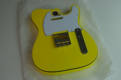 Voodoo Vibe Tele Telecaster Guitar BODY Edge Bound Vibrant Yellow