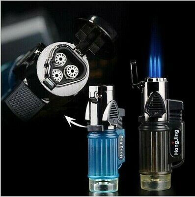 Gas Lighter Windproof Jet Butane Powerful Triple Torch turbo Lighter Inflatable