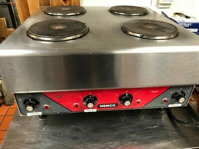 Nemco 6311-2-240 USED Raised Four Burner Electric Range / Hot Plate - 240v/1ph