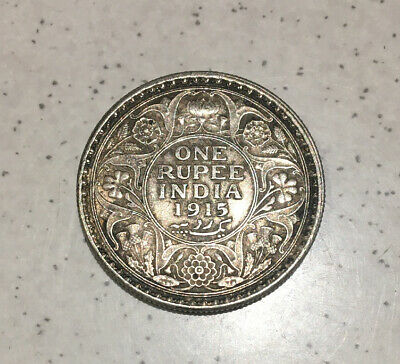 1915(c) INDIA BRITISH GEORGE V, One Silver Rupee