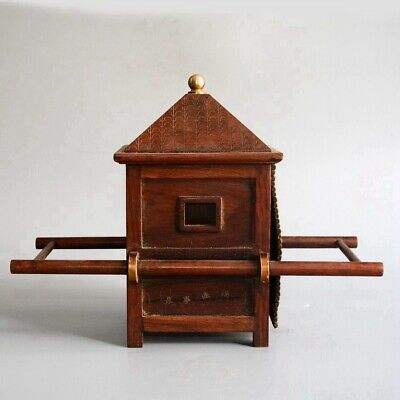 Collect China Old Boxwood Hand-Carved Ancient Noble Sedan Chair Delicate Statue