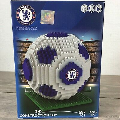 Official Chelsea FC Team 687 Pcs Football Gift Construction Ball 3D Toy