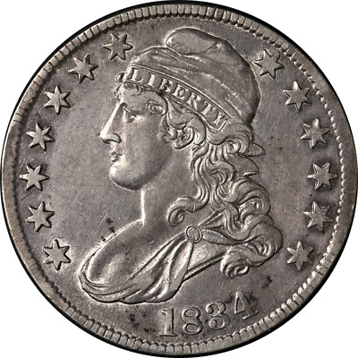 1834 Bust Half Dollar Large Date & Small Letters Choice XF/AU 0-108 R.2