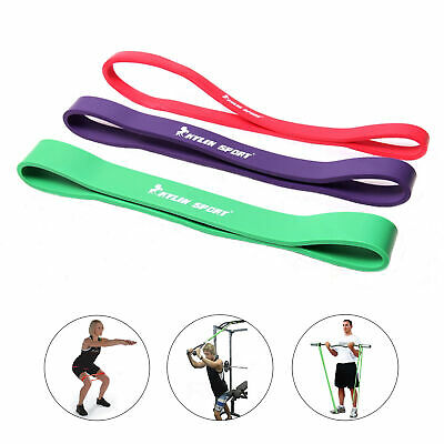 3pcs Workout Resistance Bands Loop Set CrossFit Fitness Yoga Booty Exercise Band