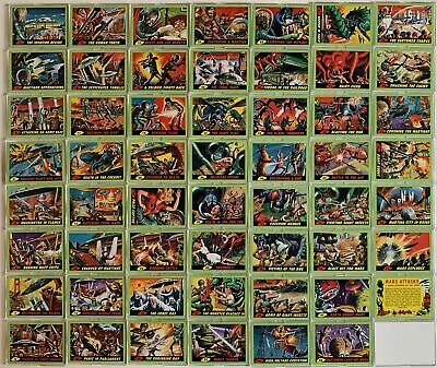Mars Attacks 2012 Green Parallel Card Set Topps 55 Cards