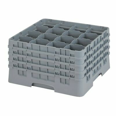 Cambro 16S900151 Camrack Soft Gray 16 Compartment Glass Rack
