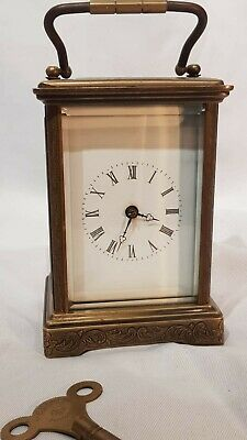Engraved Carriage Clock Working Order