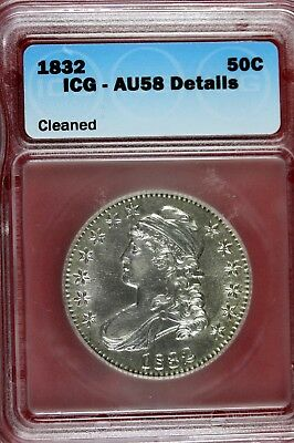 1832 - ICG AU58 Capped Bust Half Dollar!!!   #HD0152