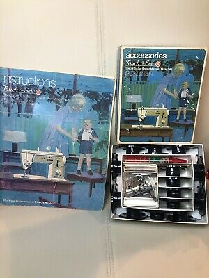 Singer Touch & Sew Accessories & Instruction Book For Special Zig Zag Model 648