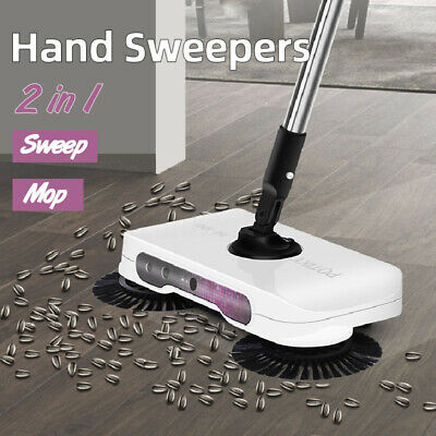 2 In 1 Household Push-type Hand Sweeper Carpet Cleaner Lightweight Cleaning Tool