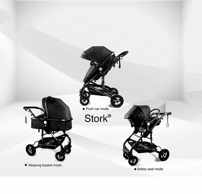 Baby buggy 3in1 travel system pushchair
