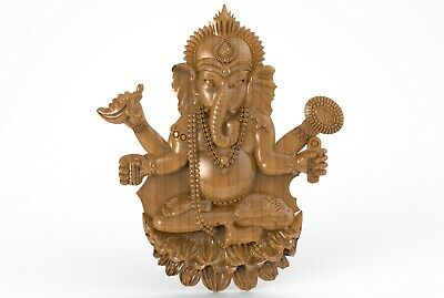 3d STL Model for CNC A042 (Lord_Ganesha) Engraver Carving Machine Relief Artcam