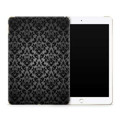Damask Black Premium Vinyl Skin Sticker Decal to Cover Back and Sides of iPad