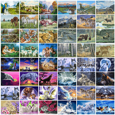 DIY Paint By Numbers Kit Digital Oil Painting Animal Art Home Wall Decor Gift