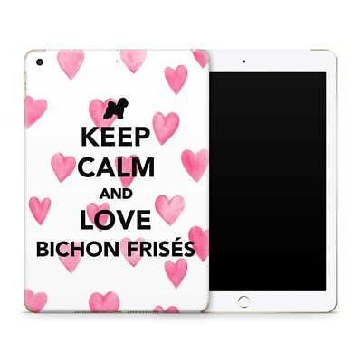 Bichon Dog Love Premium Vinyl Skin Sticker Decal to Cover Back andSides of iPad
