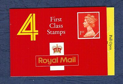 GB 1990 HB3 FIRST CLASS STAMPS BOOKLET Type HA2, barcode 100180. Round Tab.