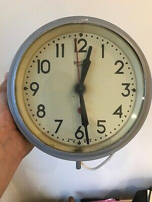 "SMITHS SECTRIC VINTAGE ELECTRIC WALL CLOCK 7"" Diameter"