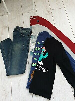 Next Boys  New 12-13 Years Gap George Jeans T-shirt Tops Long Sleeve